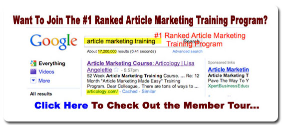 Articology article marketing course