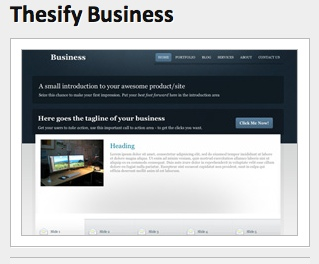Thesify Business WordPress Thesis Skin
