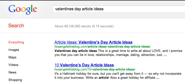 valentine's day article ideas
