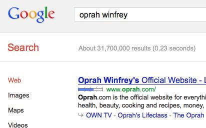 oprah winfrey online footprint
