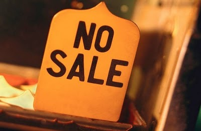 no sale sign