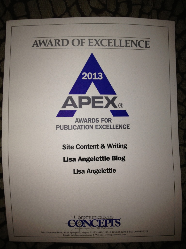 Apex Award 2013