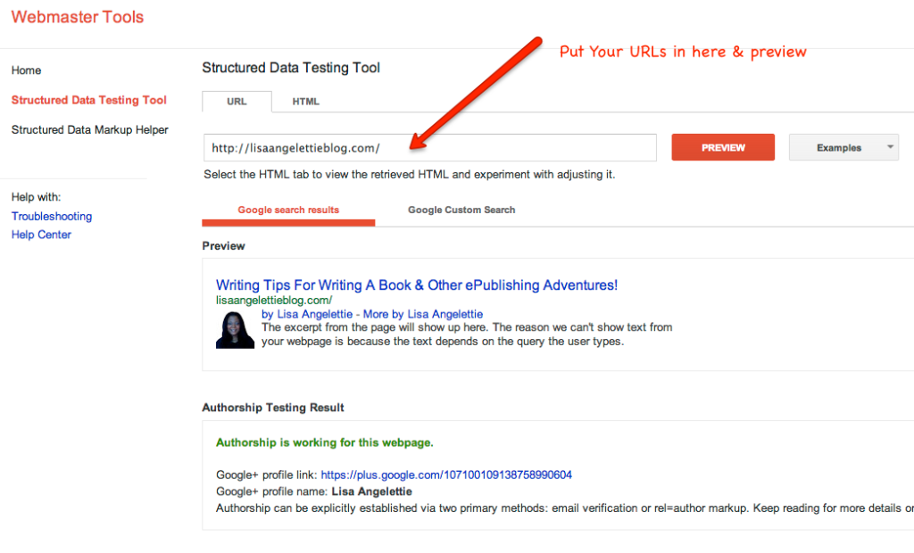 google authorship testing